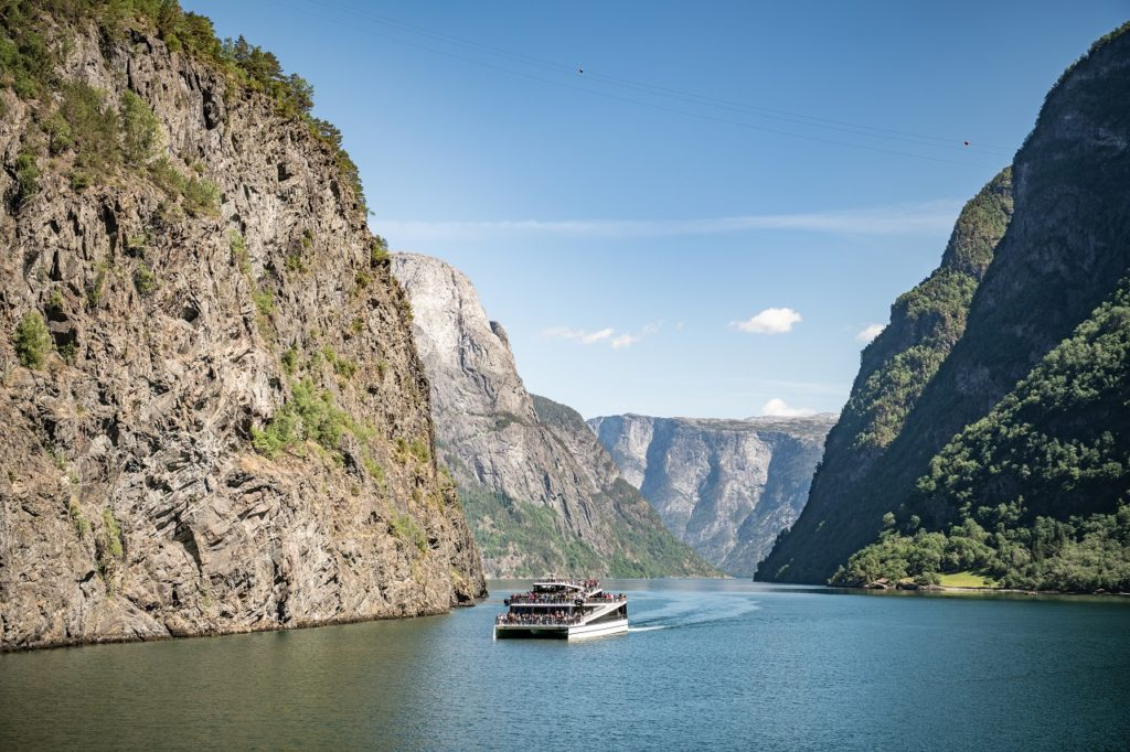Future of the Fjords - elektrisk turistbåt - Flåm - Aurland - Nærøyfjorden - Sogn og Fjordane - Vestland fylke