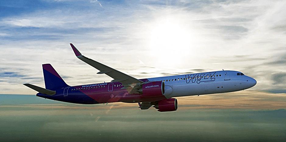 Wizz Air - Airbus A 320-family - Sol - Motlys