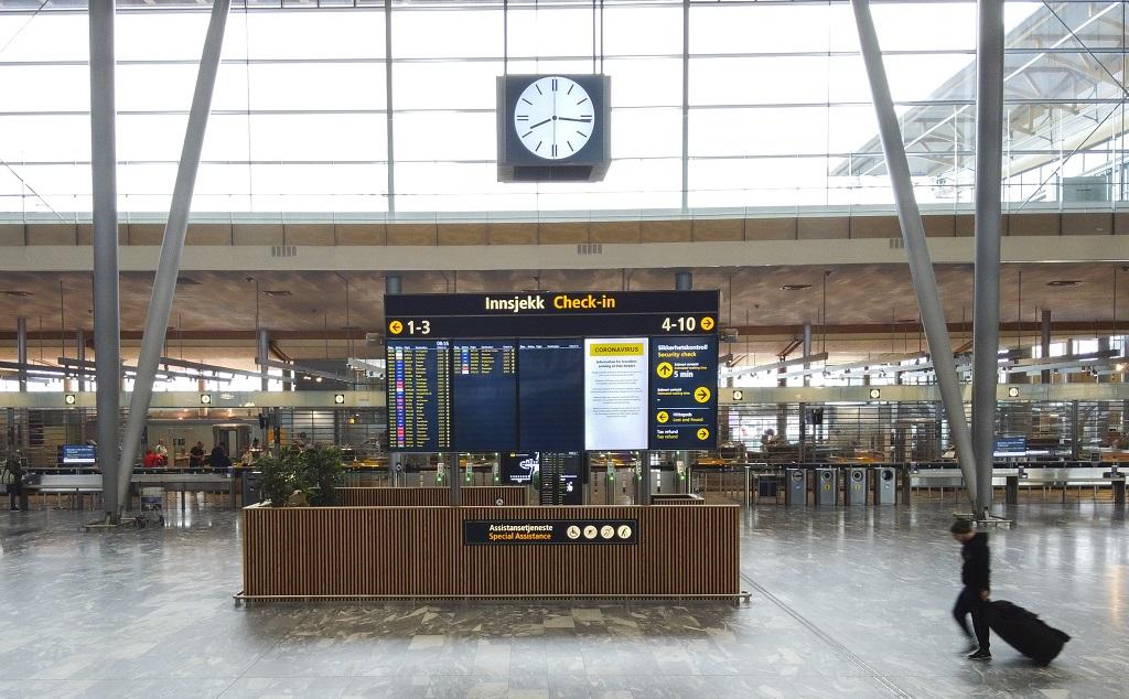 Oslo lufthavn Gardermoen 28 April 2020