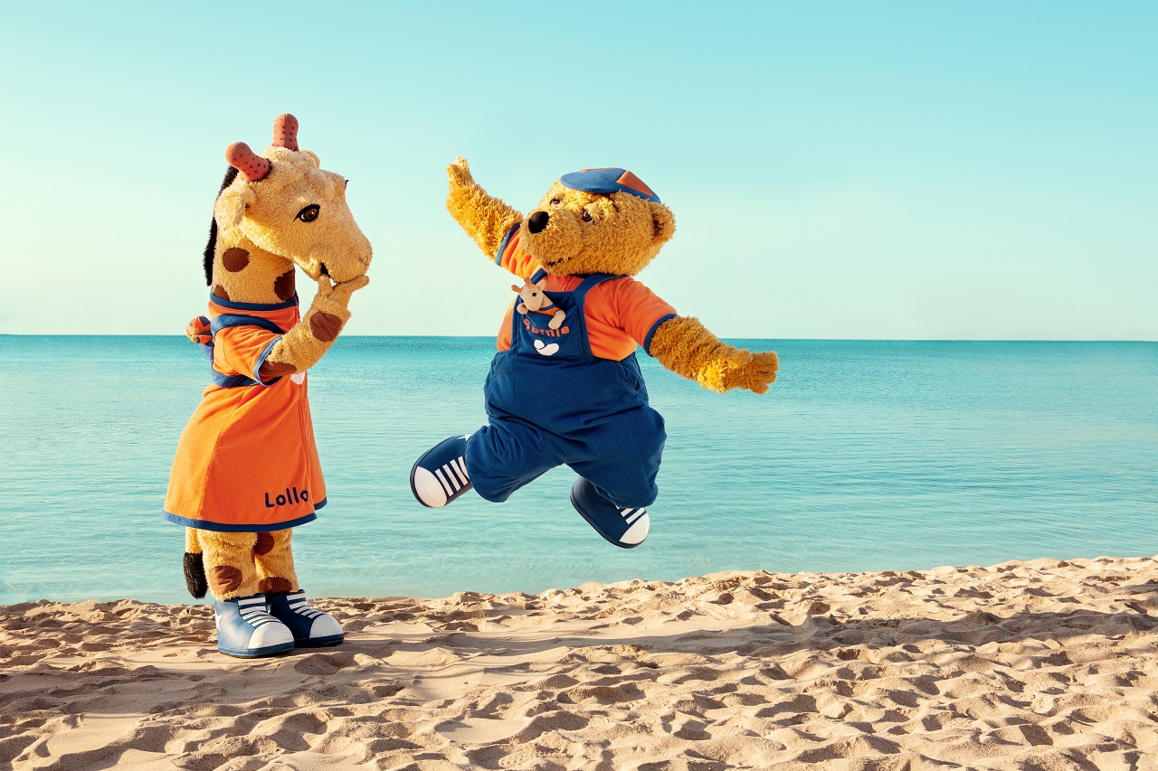 Sunwing Sandy bay beach - Kypros - Lollo & Bernie - maskotter - Spies - Ving - Vinggruppen