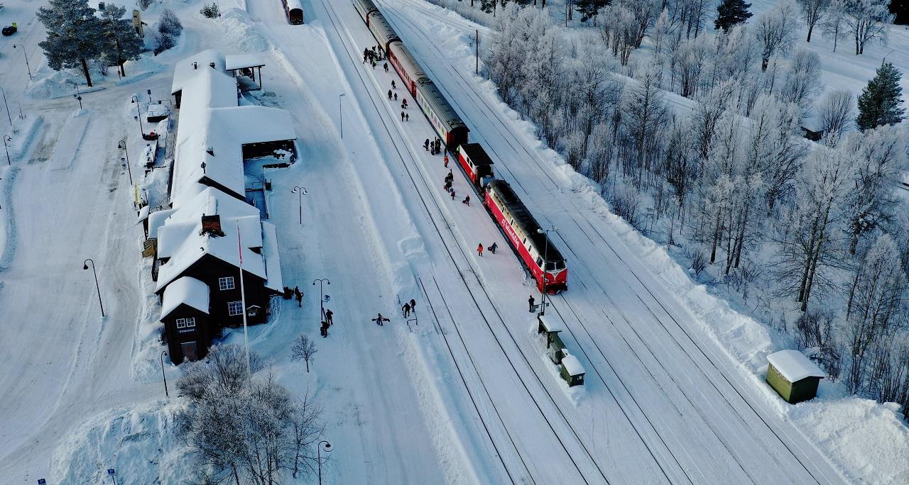 Snø - vinter - inlandsbanan - Sverige -