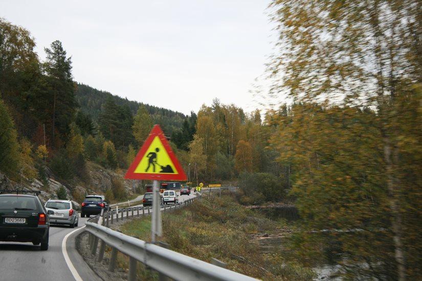 NAF -Vei - Veivedlikehold - Skilt - Norge