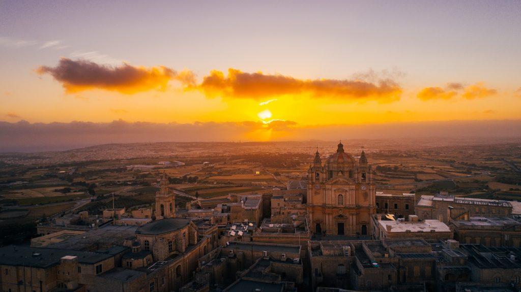Soloppgang - Mdina - Malta