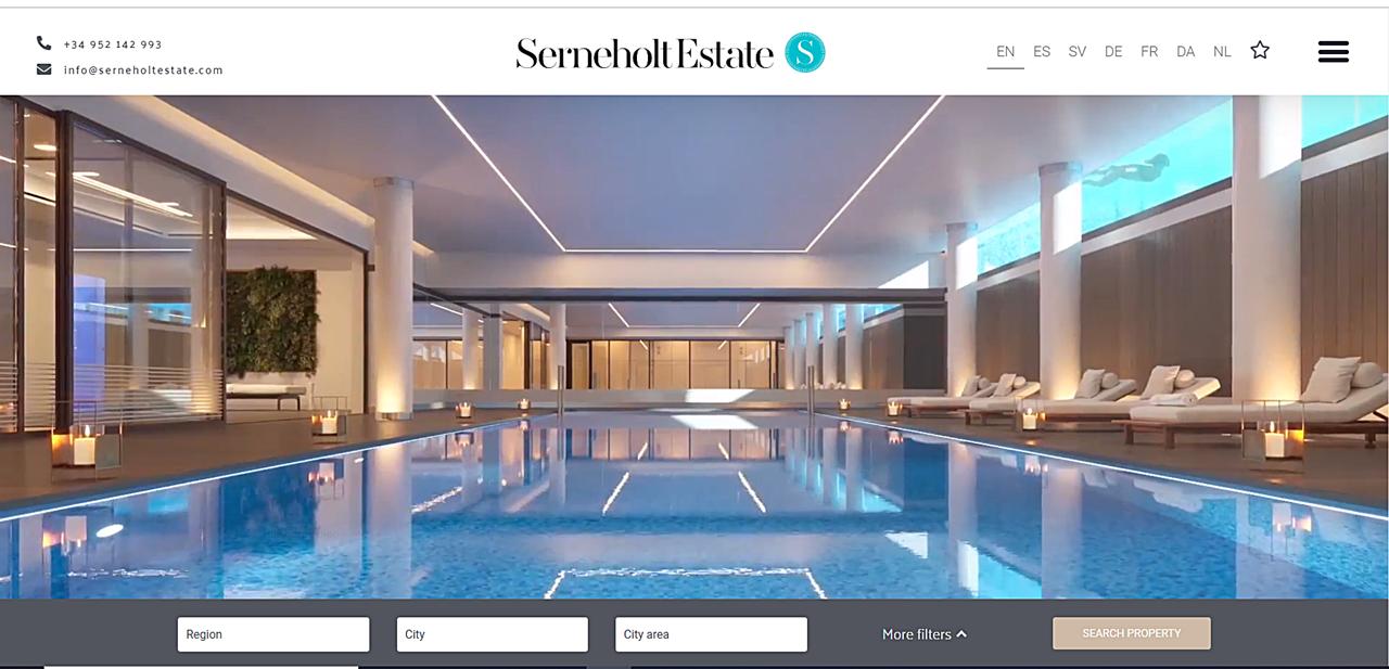 Serneholt Estate - ny nettside - 2020