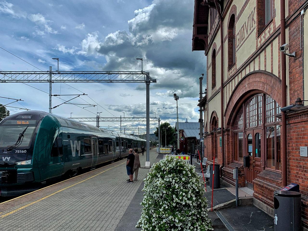 Bane Nor - Gjøvik jernbanestasjon - Oppland - Innlandet fylke