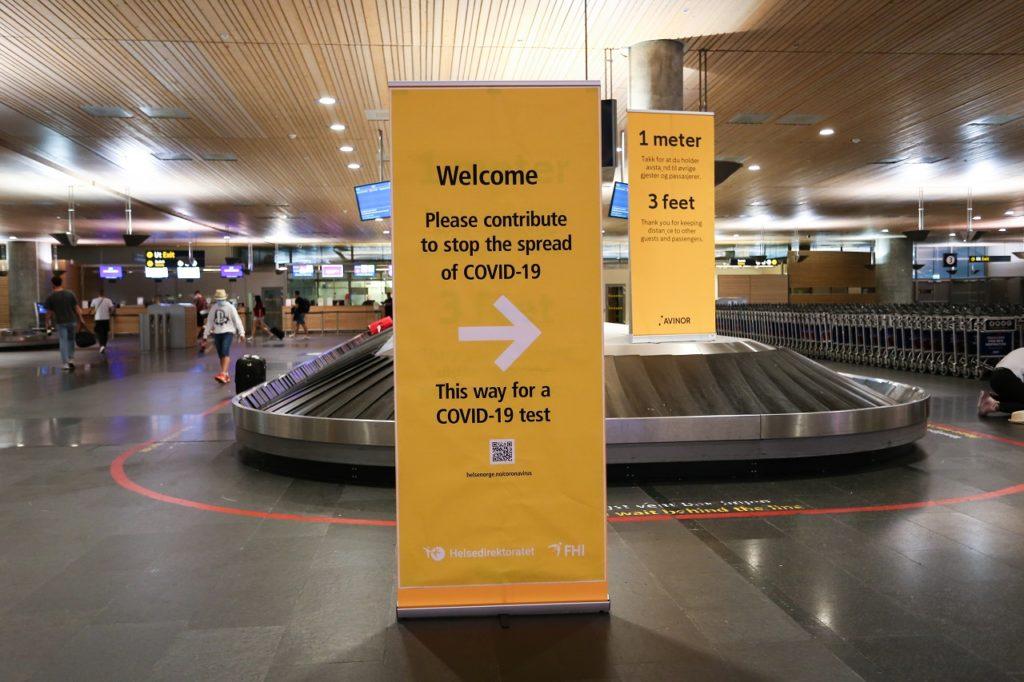 Oslo lufthavn - Ullensaker kommune - Testsenter - Covid 19 - Avinor