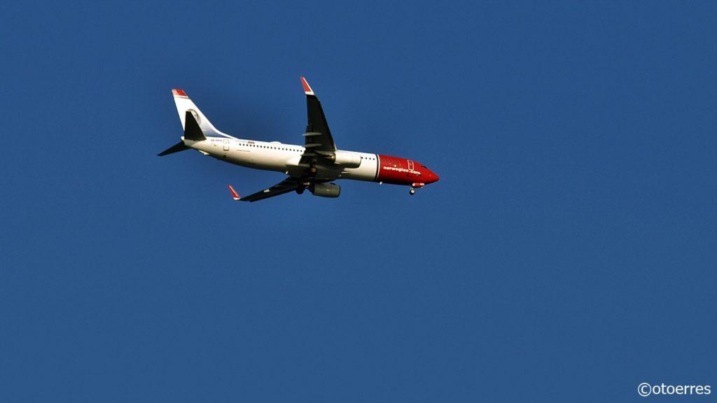 Norwegianfly - Innflyvning - Sola - august 2020