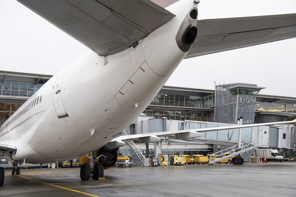 Billund lufthavn - terminal - gates - Jylland - Danmark