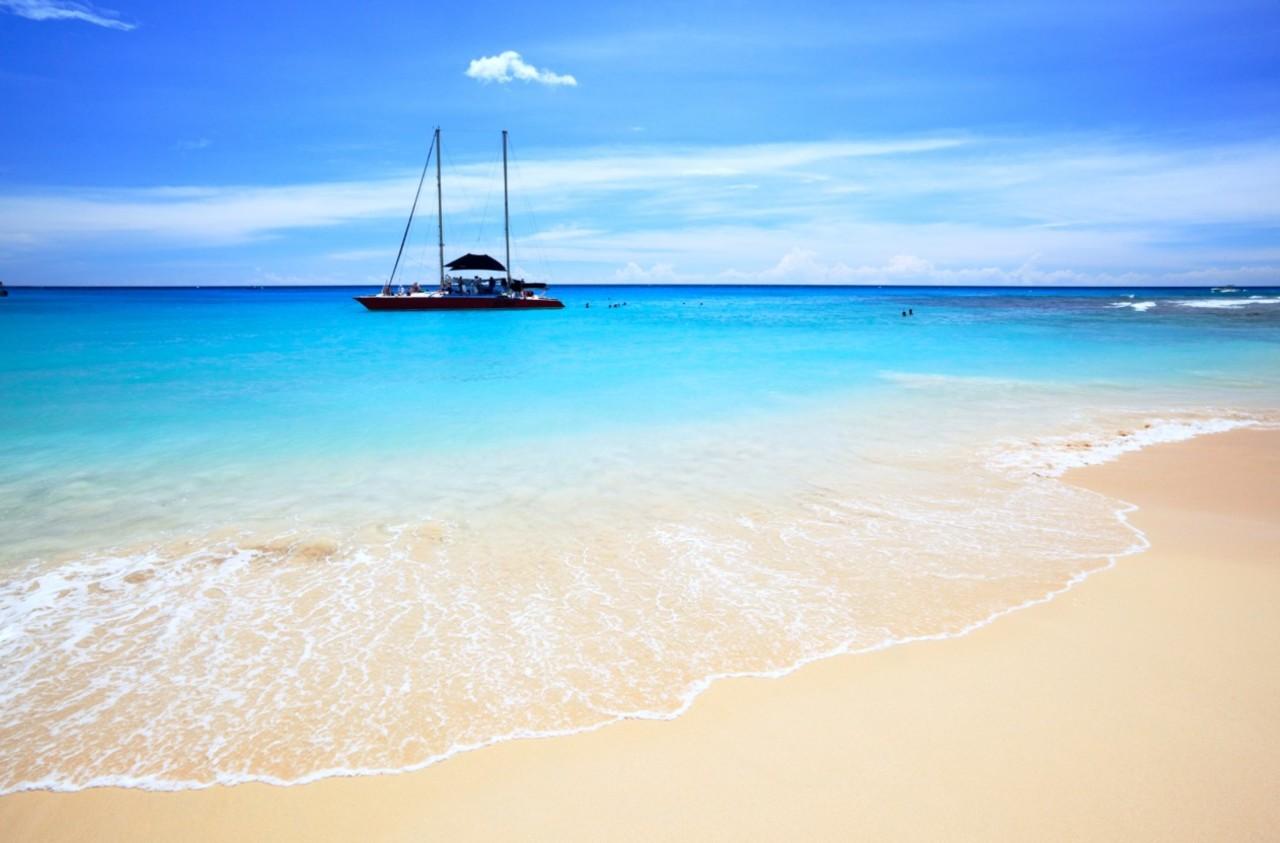 Barbados - Strand - seilbåt - British Airways