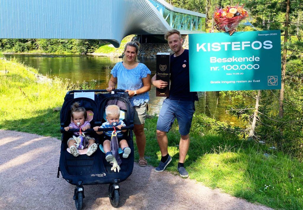 Kistefos - Besøkende nr. 100.000 - 2020