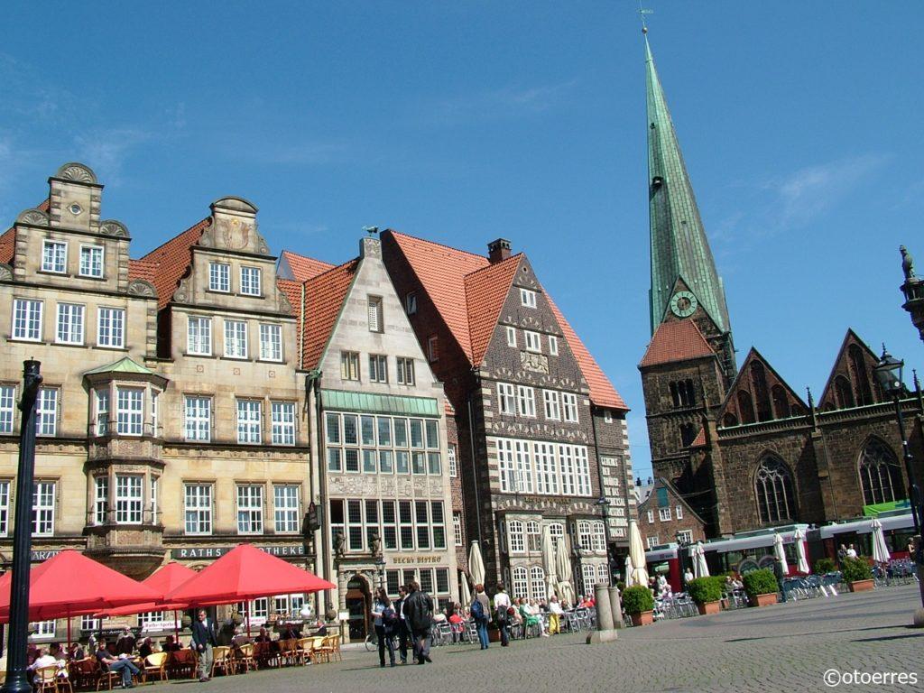 Torg - Kirke - Bremen - Tyskland