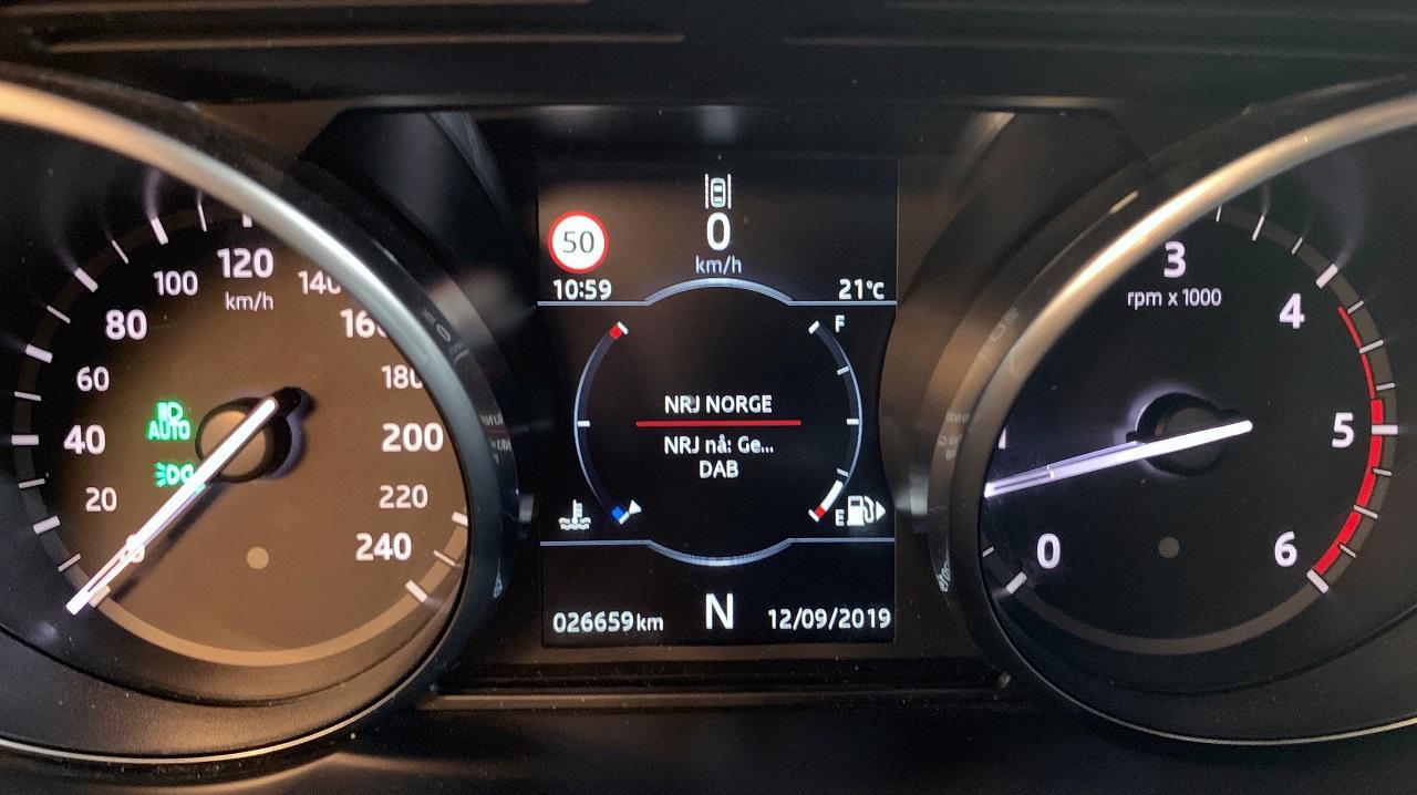 Instrumentpanel - Dashboard - Personbil - Kilometerstand -NAF