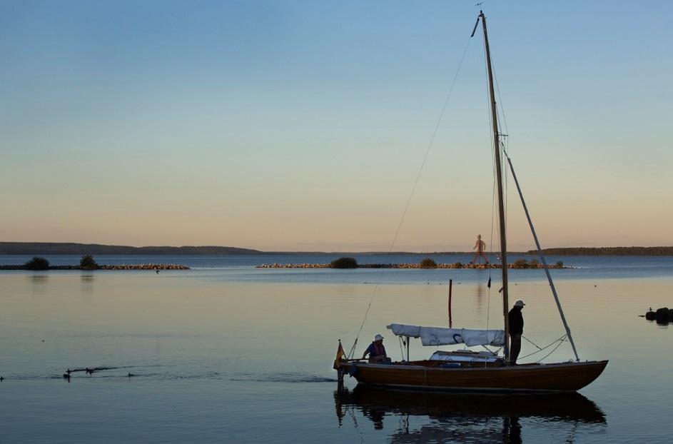 Seilbåt - folkebåt - Göta kanal - Sverige