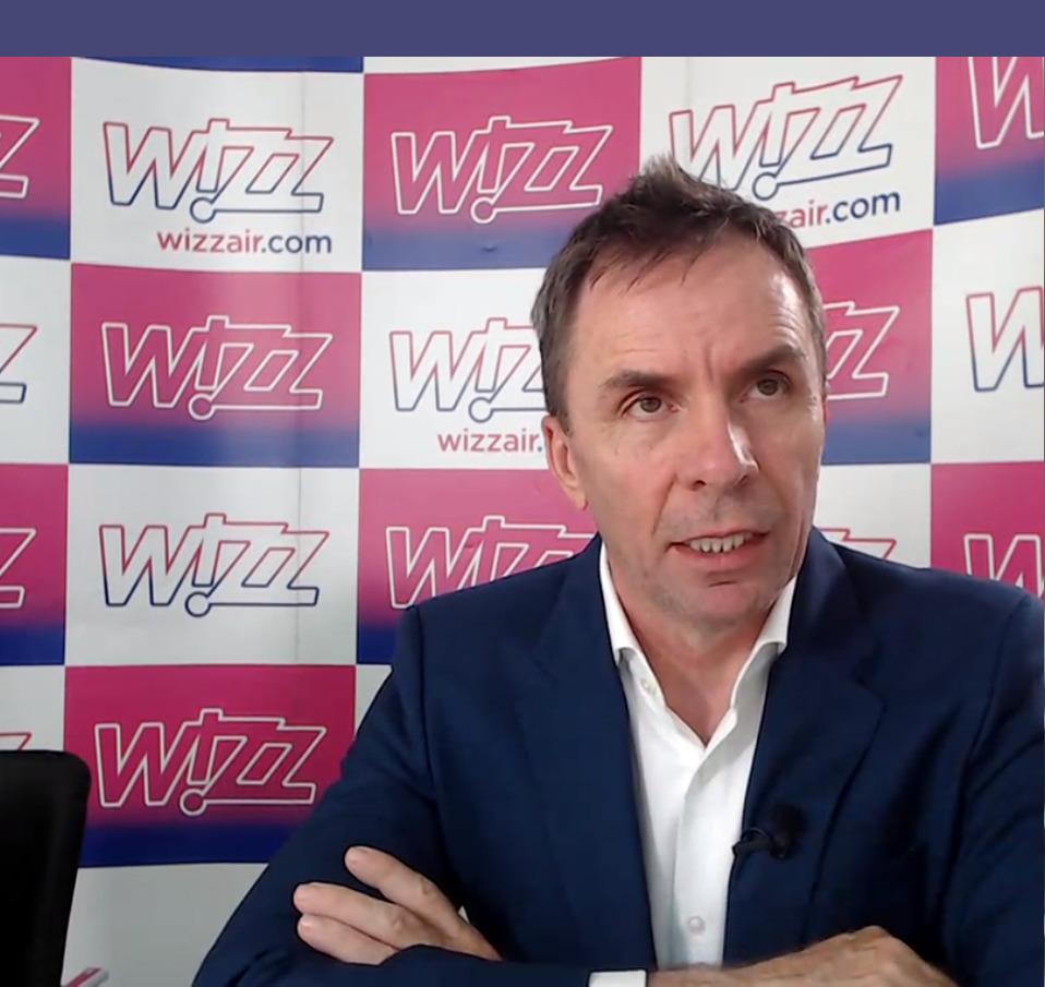 Jozsef Varadi - Wizz Air - Skjermdump - Pressekonferanse - Norge - oktober 2020