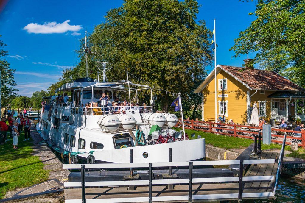 Anhede - sluser - Göta kanal - Sverige