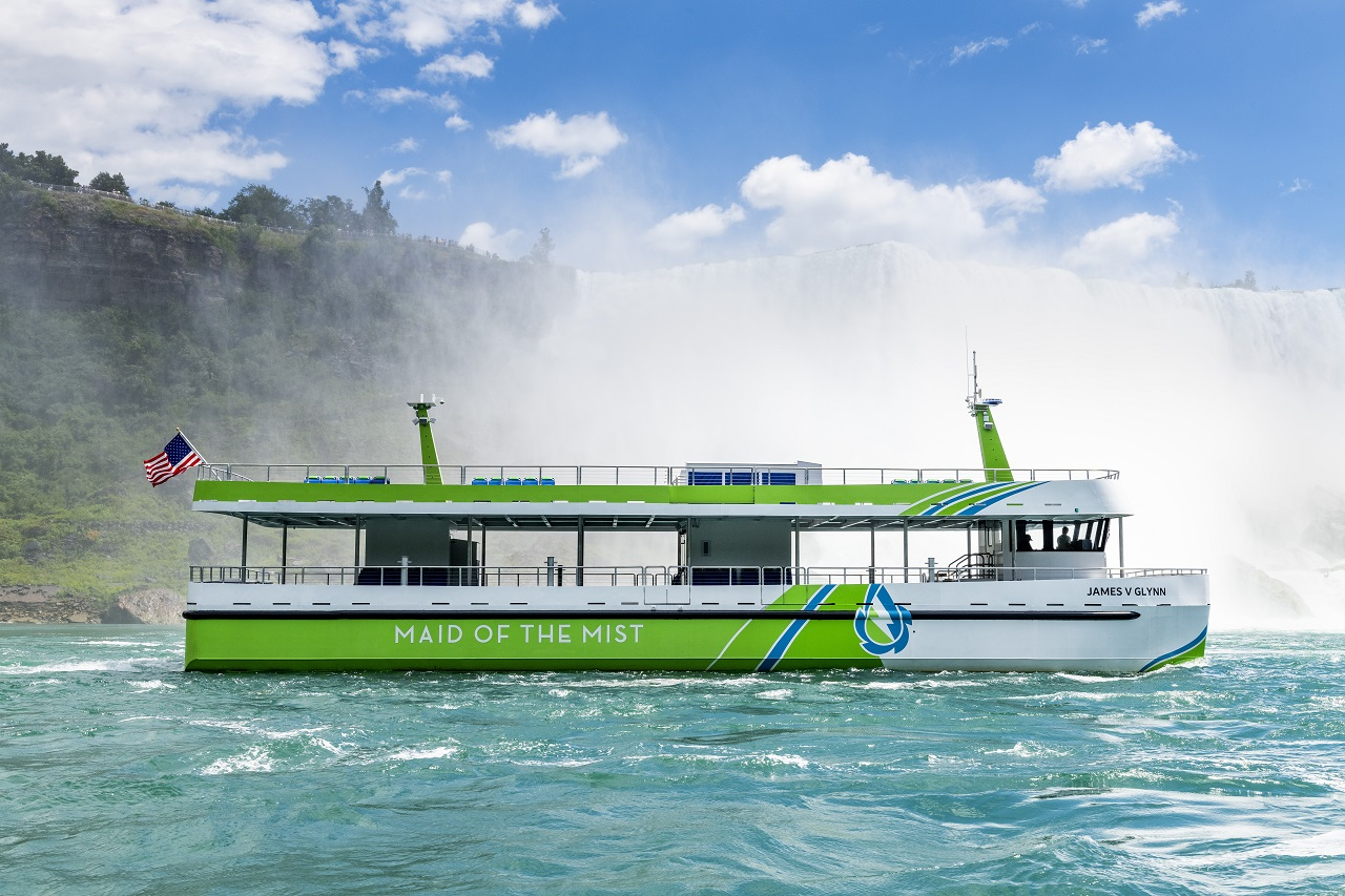 Helelektrisk sightseeingbåt - James V. Glynn - Maid of the Mist - Niagarafallene