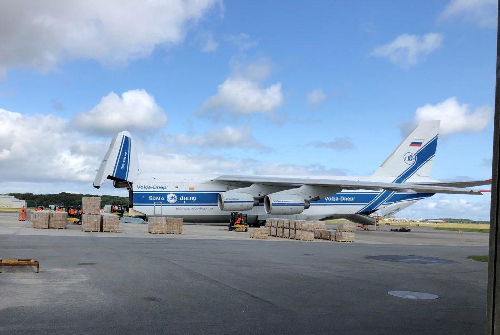 Antonov 124 - Fraktfly - Billund lufthavn