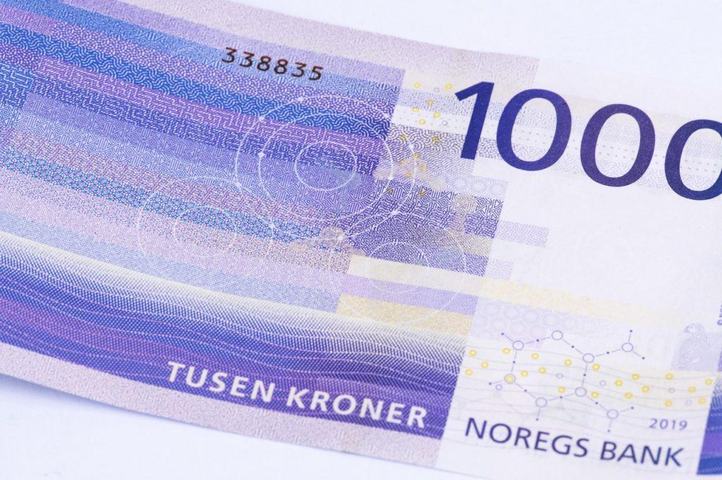1000 kroner - seddel - lapp - Edvard Munch - Norges Bank - 2020