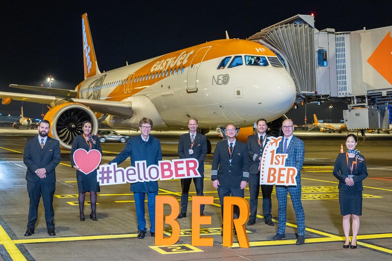 easyJet - Første flyvning fra Berlin Brandenburg Airport Willy Brandt - 1. november 2020