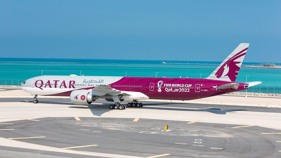 Qatar Airways - Boeing 777 - Spesial livery - dekorasjon - Fotball VM - 2022