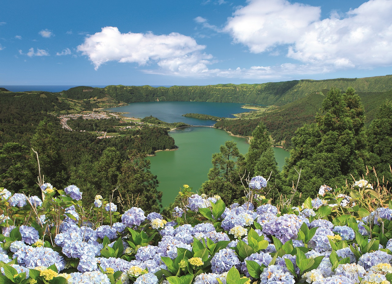 Innsjø - Lagoa das Sete Cidades - Azorene - Portugal