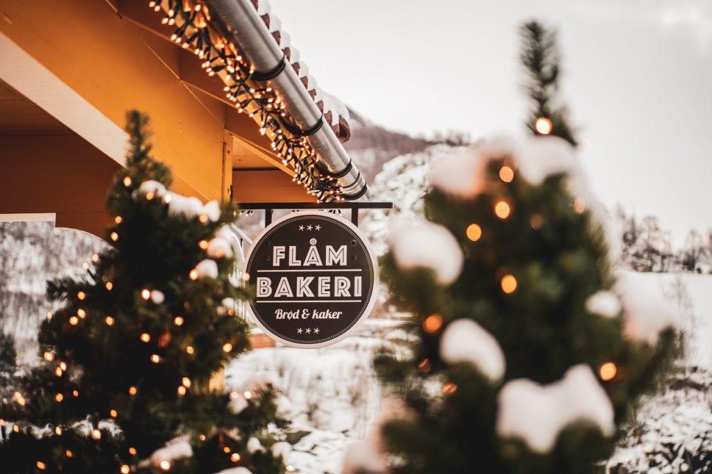 Flåm Bakeri - Flåm - Vinter - julestemning