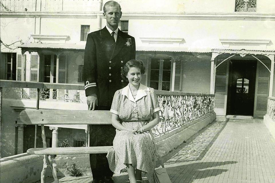 Queen Elizabeth - Prince Phillip - Malta - ca. 1950