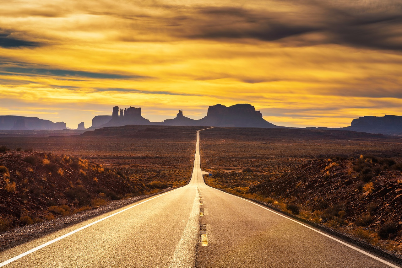 Ørkenvei - Forrest Gump point - Monument Valley - Utah -USA