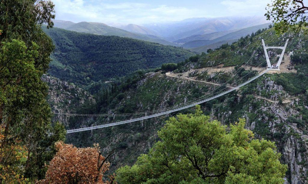 Arouca bridge - Fotgjengerbro - naturreservat - naturreservatet Arouca Unesco Global Geopark - Porto - Portugal