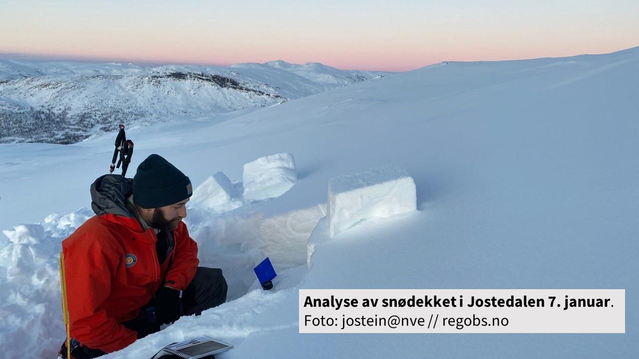 Analyse av snødekket i Jostedalen 7.januar 2020