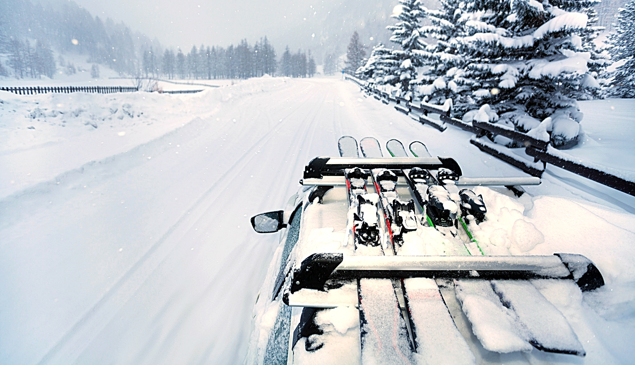 Ski - Skistativ - Biltal - Personbil - Vinterføre - NAF