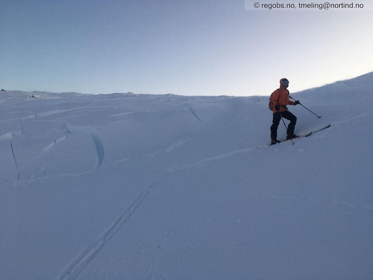 Snø - skiløper - Snøskredvarslinga - skredfare- vinteren 2020/2021