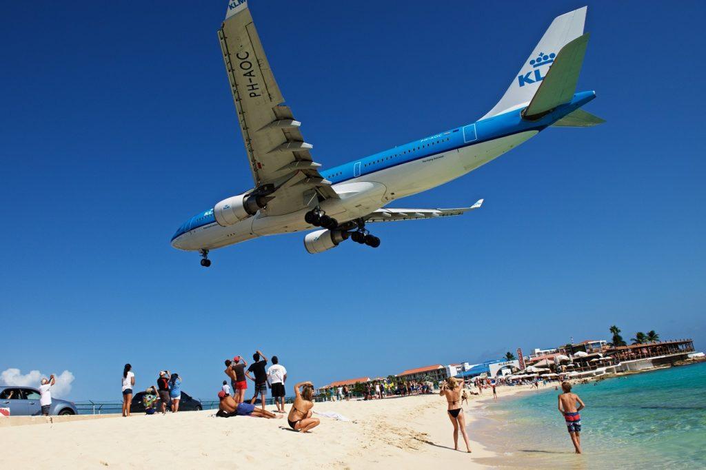 Maho Beach - KLM - Landing - Princess Juliana Int'l Airport - St. Maarten