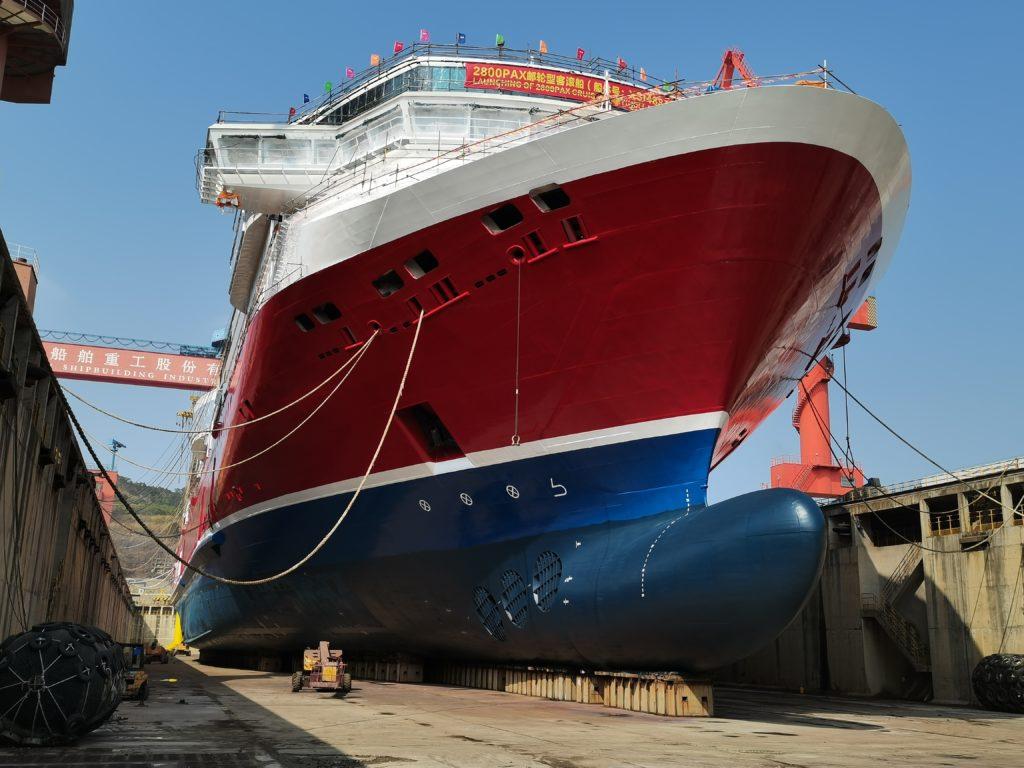 Viking Glory - Viking Line - Byggedokk - Sjøsetting - Verft - Kina
