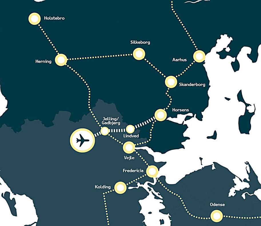 Jernbaneplaner - Tog - Billund-Aarhus