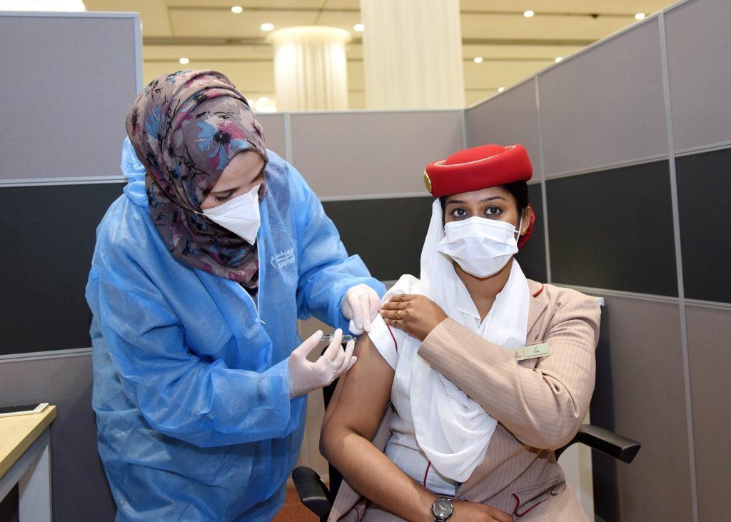 Kabinansatte - Emirates - Covid-19 vaksine - Dubai - UAE- 2021