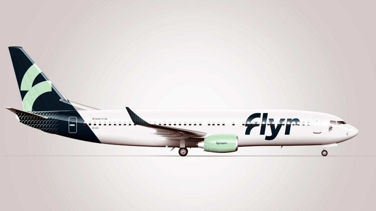 Flyr - Boeing 737-800 - Design: Unfold