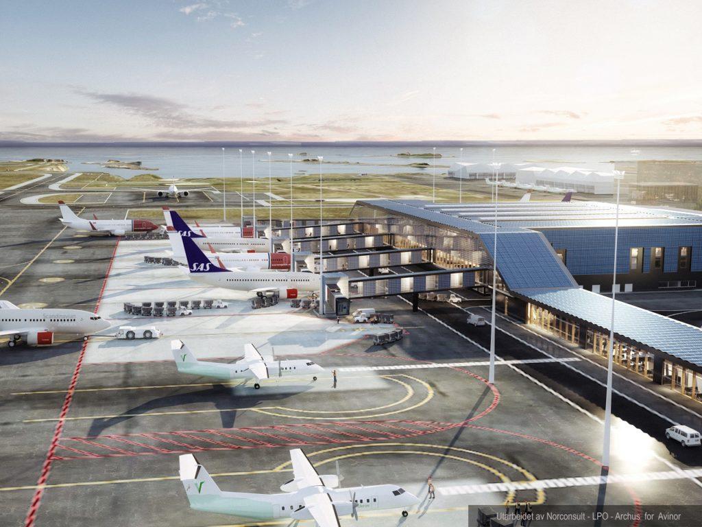 Illustrasjon - Nye Bodø lufthavn - Avinor - 2021
