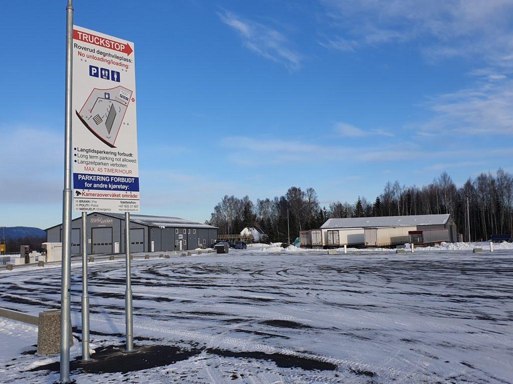 Lastebilsjåfører - Døgnhvileplass - Roverud - Komgsvinger - Hedmark - Innlandet