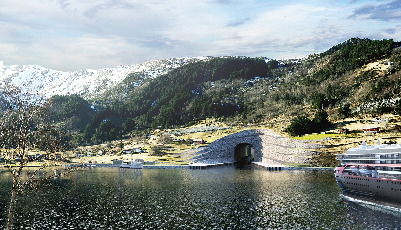 Stad Skipstunnel -KYstverket - Illustrasjon