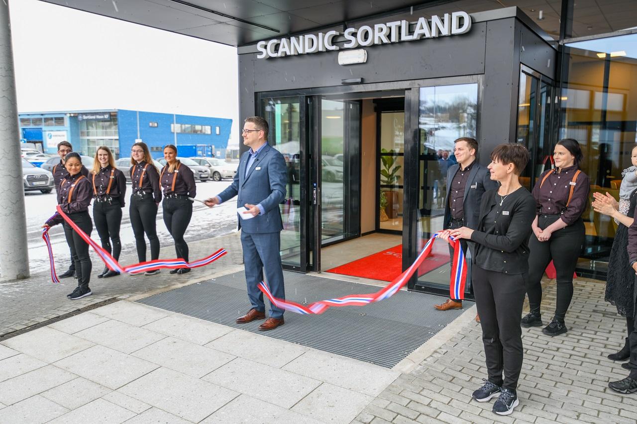 Scandic Sortland - Åpning - snorklipping - Hotell - mars 2021