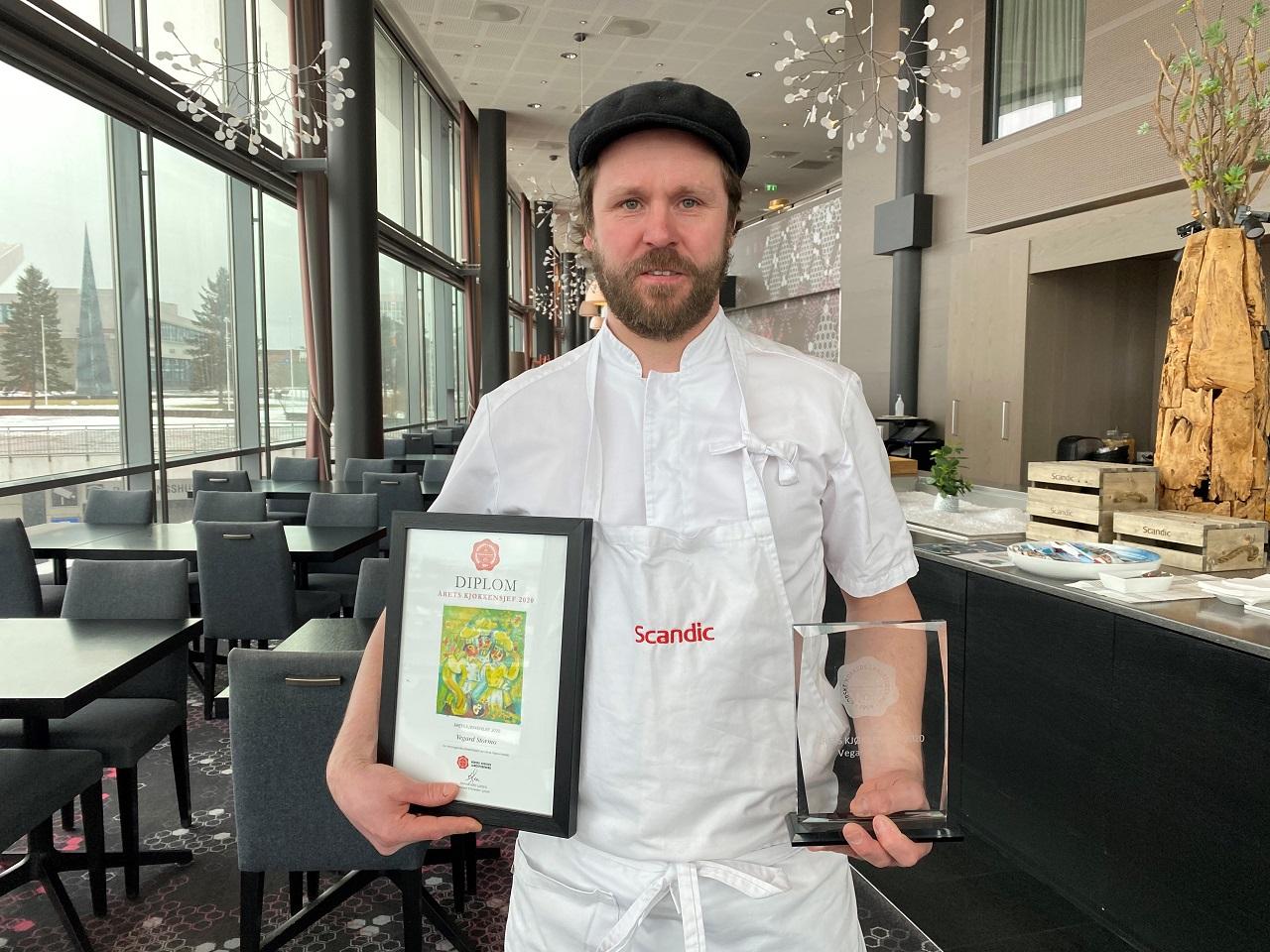 Vegard Stormo - Årets kjøkkensjek 2021 - NKL - Scandic Narvik