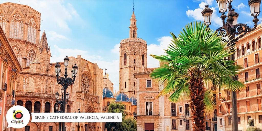 Katedralen i  Valencia - Spanien
