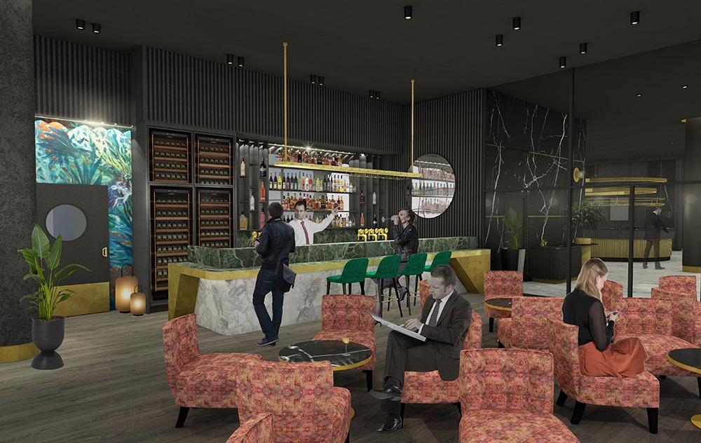 Thon Hotel Svolvær - bar - interiør - 2021