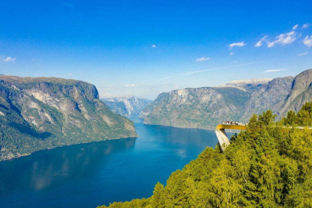 Stegastein - Utsiktspunkt - Aurlandsfjorden
