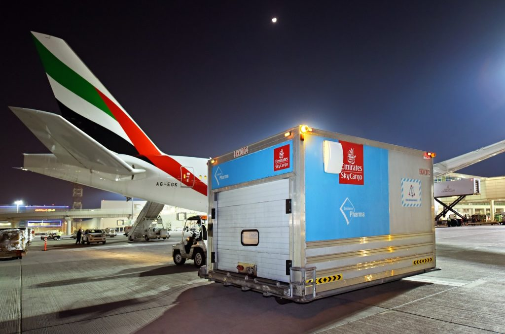 Emirates SkyCargo - Container - Vaksine - Boeing 777F