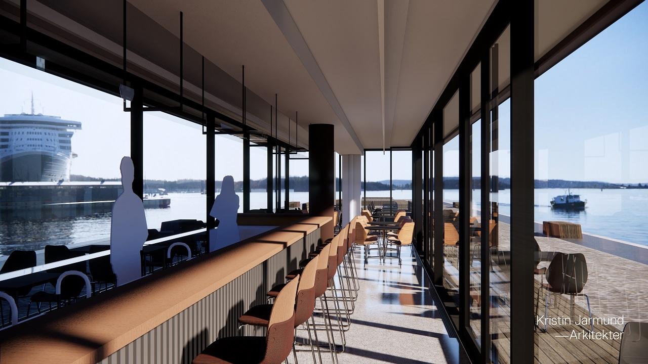 Akevittbar - Piren -Rådhusbrygge 2 - Oslo Havn - visualisering