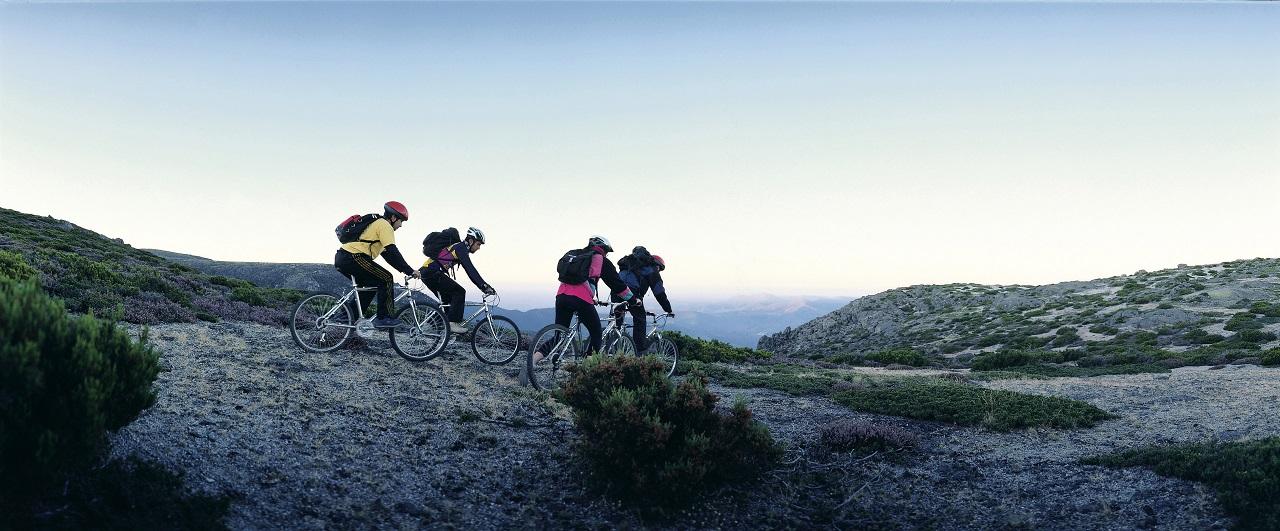 Syklister - Serra da Estrela - Nasjonalpark - Portugal