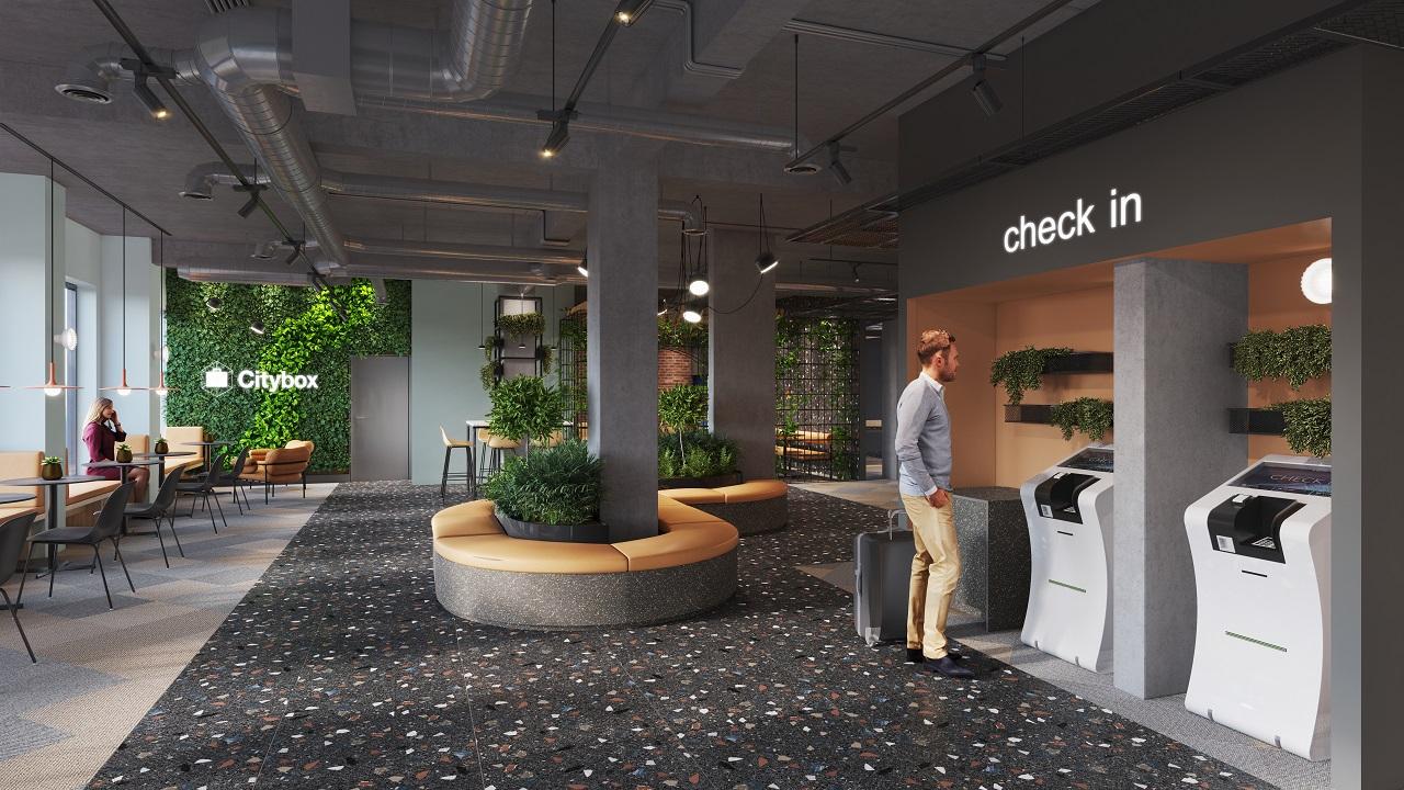 Lobby- Citybox Antwerpen - Flandern -Belgia
