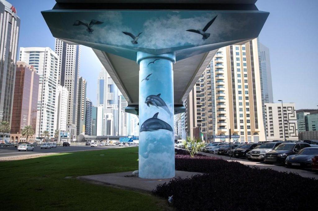 Metro art - Gatekunst - Street Art - Dubai - De forente arabiske emirater